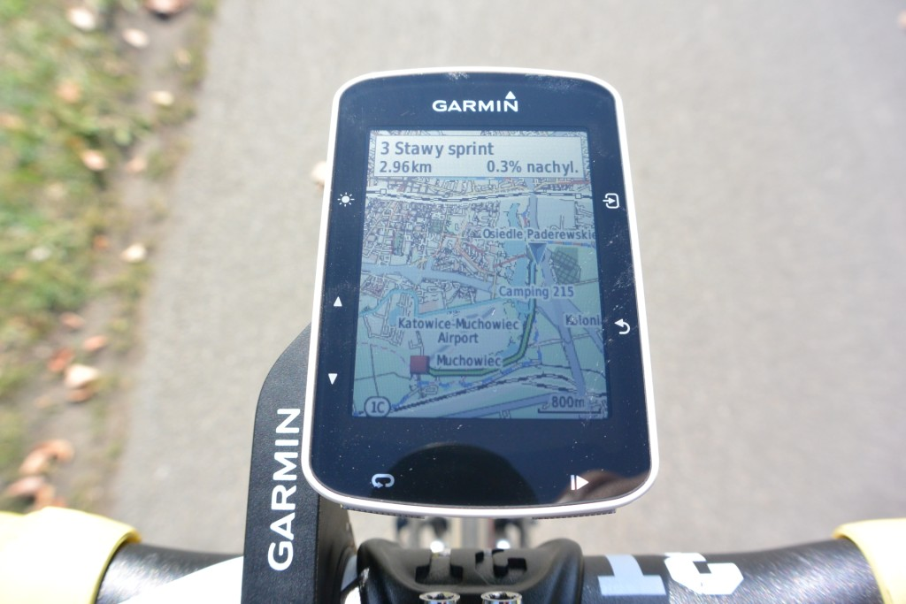 Edge 520 - mapa segmentu