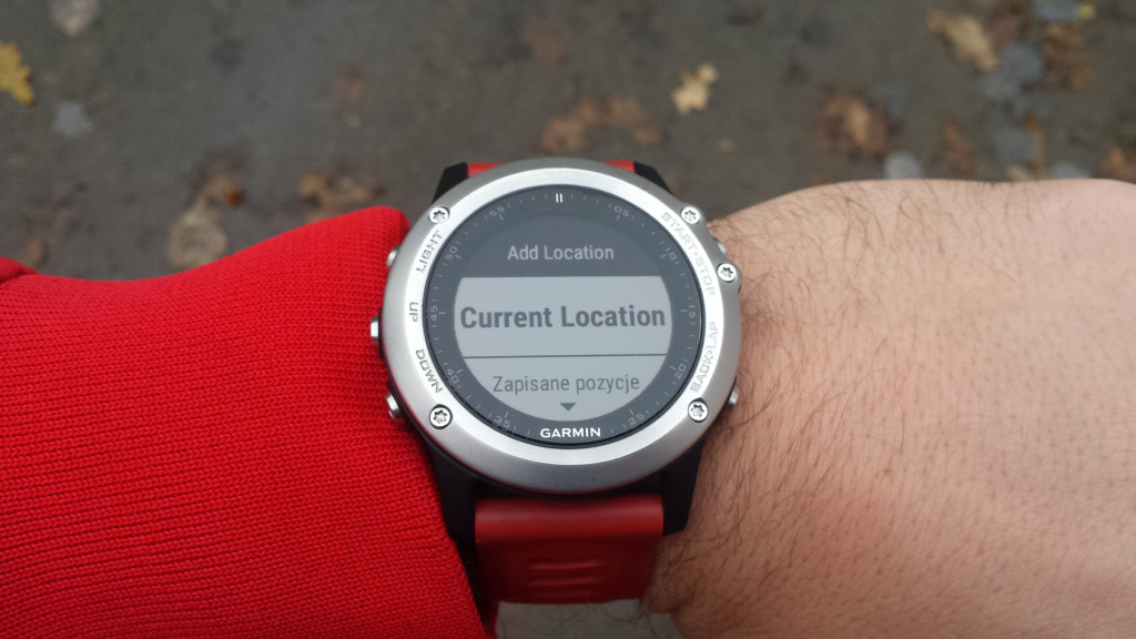 Fenix 3 - kurs z zegarka