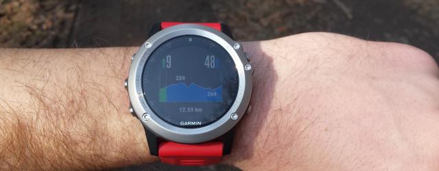 Garmin Fenix3 - profil wysokości